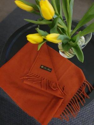 Loro Piana Sjaal van kasjmier donker oranje