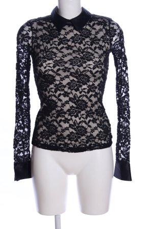 Lorsay Spitzenbluse schwarz Elegant
