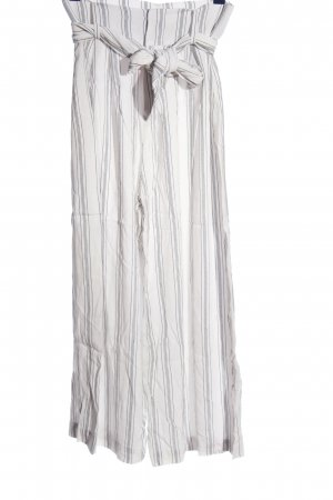 Los Angeles Atelier Culottes weiß-hellgrau Streifenmuster Casual-Look