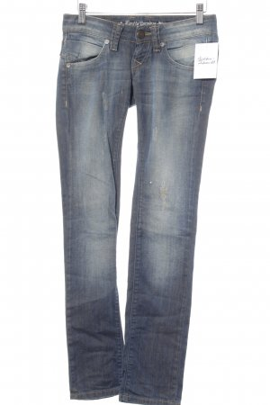 Lost in Paradise Straight-Leg Jeans blau Destroy-Optik