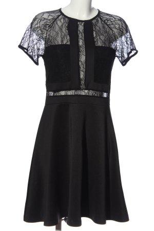 Lost Ink A-Linien Kleid schwarz Casual-Look
