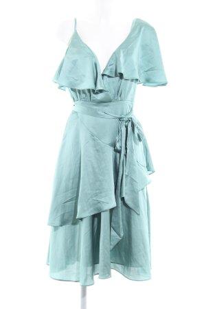 Lost Ink Abendkleid türkis-graugrün Elegant