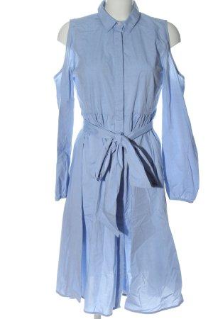 Lost Ink Blusenkleid blau Casual-Look