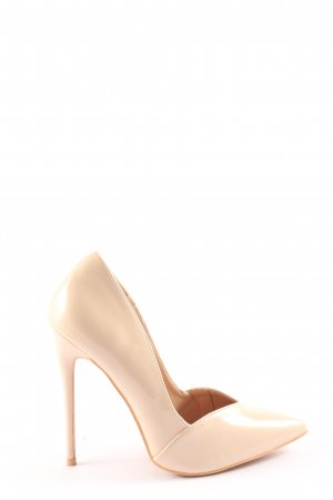 Lost Ink High Heels creme Business-Look