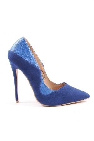 Lost Ink High Heels blau Business-Look