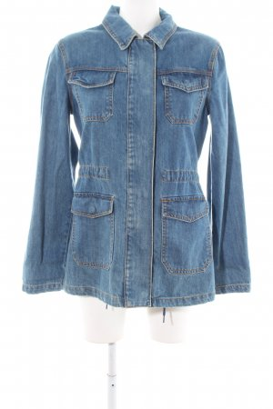 Lost Ink Jeansjacke blau Casual-Look