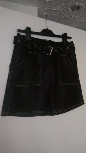 Lost Ink Faux Leather Skirt black