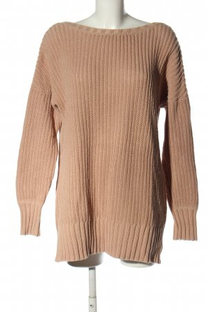 Lost Ink Strickpullover wollweiß Casual-Look