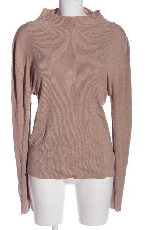 Lost Ink Pull tricoté brun style décontracté