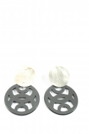 Lott Gioielli Ear stud silver-colored-black casual look