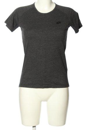 Lotto T-shirt grigio chiaro puntinato stile casual