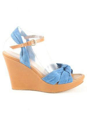 Lottusse Wedge Sandals blue casual look
