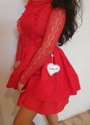 Lou Lou Abito baby-doll rosso