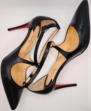Christian Louboutin Lace-up Pumps black-red