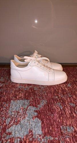 Christian Louboutin Sneaker stringata bianco Pelle