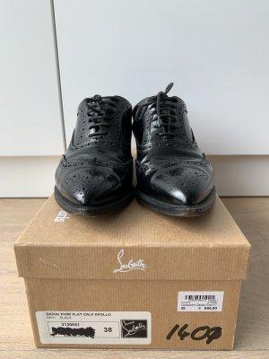 Christian Louboutin Zapatos brogue negro Cuero