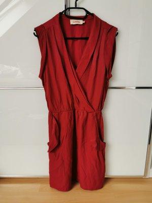 Louche Kleid V-Ausschnitt Gr. M Rot