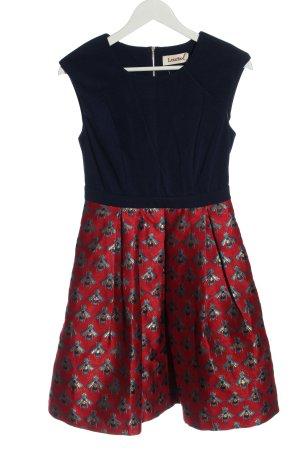 Louche Mini Abito blu-rosso Stampa a tema elegante