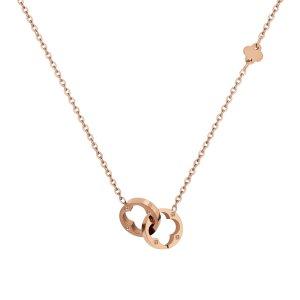 Loui Halskette 18k Roségold beschichtet