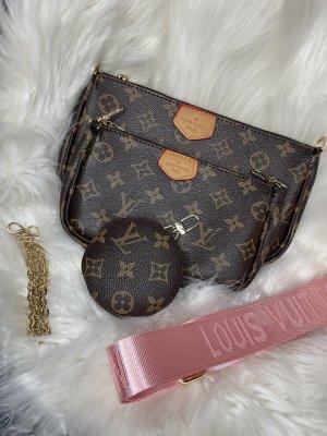 Crossbody bag brown-pink