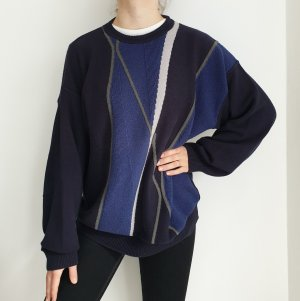 Vintage Pull oversize multicolore