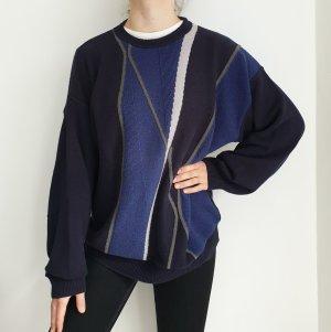 Louis Fashion Blau Oversize Pullover Hoodie Pulli Sweater Oberteil 56 Top True Vintage
