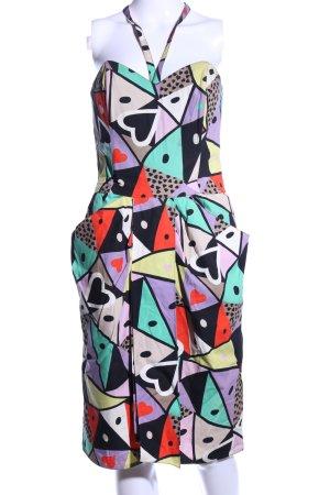 Louis Feraud Bandeau Dress mixed pattern casual look