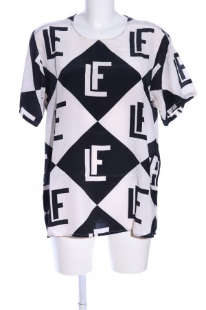 Louis Feraud Blouse Top natural white-black graphic pattern casual look