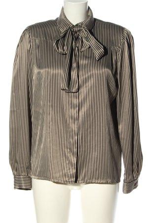 Louis Feraud Hemd-Bluse schwarz-weiß Streifenmuster Elegant