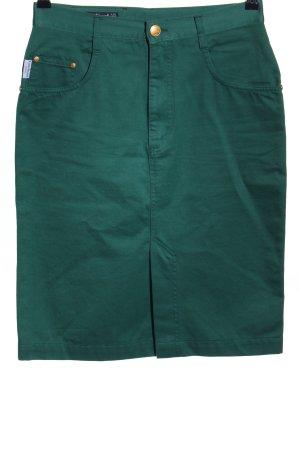 Louis Feraud Jeansrock grün Schriftzug gestickt Casual-Look