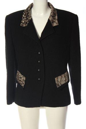 Louis Feraud Blazer in maglia nero-crema motivo animale stile classico