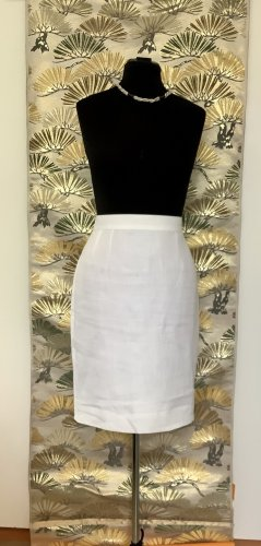 Louis Feraud Linen Skirt white linen
