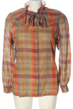 Louis London Camicia blusa motivo a quadri stile casual