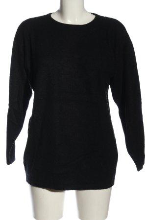 Louis London Maglione girocollo nero stile casual