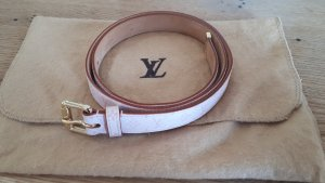 Louis Vuitton Leather Belt pink-gold-colored leather