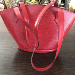 Louis Vuitton Carry Bag red leather