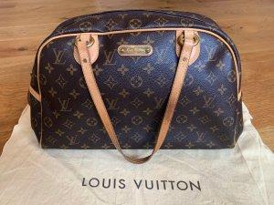 *Louis Vuitton 100%* Monogram Canvas Montorgueil GM Boston Bag M95566