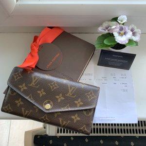 Louis Vuitton Kopertówka brąz Skóra