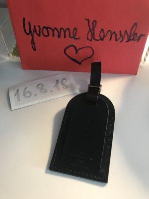 Louis Vuitton Adressanhänger schwarz mit Initialen