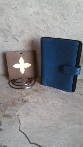 Louis Vuitton Agenda PM Epi Leder Blau