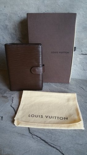 Louis Vuitton Tarjetero marrón Cuero