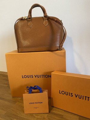 Louis Vuitton Bolso barrel coñac Cuero