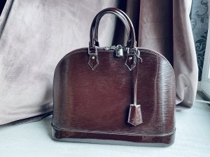 Louis Vuitton Alma GM Patent Vernis Lackleder Brombeerrot