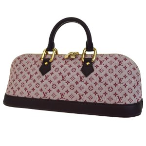 Louis Vuitton Handbag bordeaux-pink leather