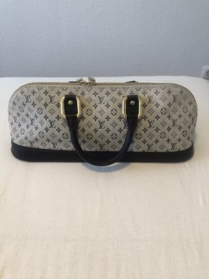 Louis Vuitton Handbag light grey-azure cotton