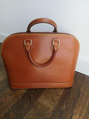 Louis Vuitton Handbag cognac-coloured leather