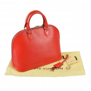 Louis Vuitton Alma PM Epi Leder Handtasche Rot @mylovelyboutique.com