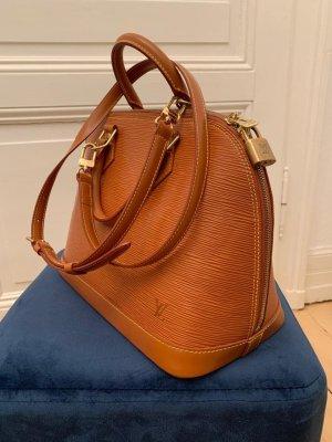 Louis Vuitton Draagtas cognac-donker oranje Leer