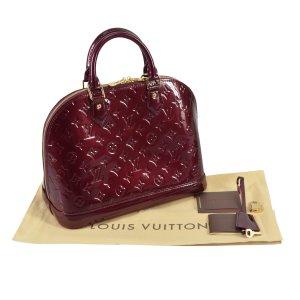 Louis Vuitton Alma PM Monogram Vernis Leder Rouge Fauviste @mylovelyboutique.com
