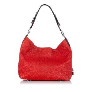 Louis Vuitton Hobo czerwony Skóra